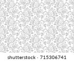 floral pattern. wallpaper... | Shutterstock .eps vector #715306741