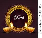 diwali festival sale  sticker ... | Shutterstock .eps vector #715307155