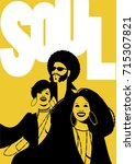soul music poster. group of man ... | Shutterstock .eps vector #715307821
