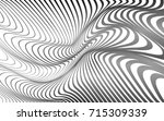 optical art abstract background ... | Shutterstock . vector #715309339