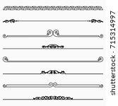 decorative dividers  set 33  | Shutterstock .eps vector #715314997