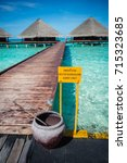 Small photo of Bridge to accommodation in Maldives