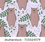 vector cartoon pattern with a... | Shutterstock .eps vector #715324579