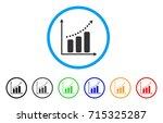 positive trend icon. vector... | Shutterstock .eps vector #715325287