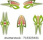 vehicle graphics  stripe  ... | Shutterstock .eps vector #715325431