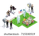 isometric composition with... | Shutterstock .eps vector #715330519