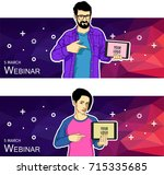 flat design concept for social...   Shutterstock .eps vector #715335685