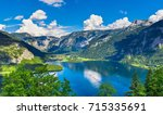 panoramic view on austrian... | Shutterstock . vector #715335691