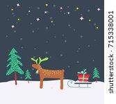 christmas card design. template ...   Shutterstock .eps vector #715338001