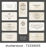 vintage card set | Shutterstock .eps vector #71534035