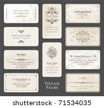 vintage card set | Shutterstock .eps vector #71534035