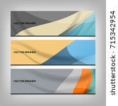 abstract banner background for... | Shutterstock .eps vector #715342954