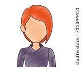 beautiful businesswoman avatar... | Shutterstock .eps vector #715344451