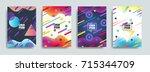 liquid  flow  fluid background... | Shutterstock .eps vector #715344709