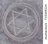 star of david sign  | Shutterstock . vector #715349224