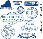 set of generic stamps and signs ... | Shutterstock .eps vector #715359871
