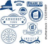 set of generic stamps and signs ... | Shutterstock .eps vector #715359889