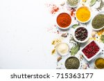 Set Of Various Spices In A...