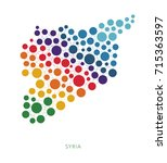 dotted texture syria vector... | Shutterstock .eps vector #715363597