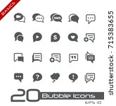 bubble icons    basics   Shutterstock .eps vector #715383655