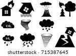 disaster signs in vector   Shutterstock .eps vector #715387645