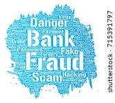 vector conceptual bank fraud... | Shutterstock .eps vector #715391797