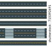 set of seamless vector road...   Shutterstock .eps vector #715392691