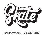 skate. vector handwritten... | Shutterstock .eps vector #715396387
