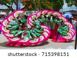 saipan  cnmi the bj dance group ... | Shutterstock . vector #715398151
