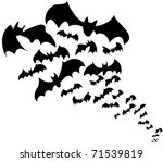 Flock Of Bats. Halloween...