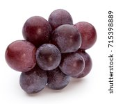 ripe red grape isolated on... | Shutterstock . vector #715398889