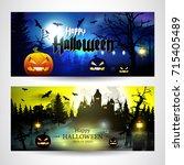 halloween. | Shutterstock .eps vector #715405489