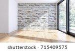 modern bright interiors. 3d...   Shutterstock . vector #715409575