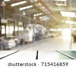 car factory industry blur... | Shutterstock . vector #715416859