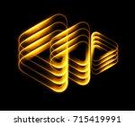 lighting geometrical shapes on... | Shutterstock . vector #715419991