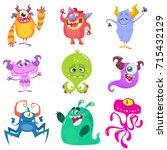 Cartoon Monsters. Vector Set O...