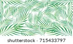 graphic leaves of coconut... | Shutterstock .eps vector #715433797