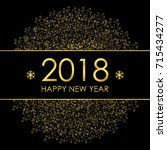 2018 happy new year greeting... | Shutterstock .eps vector #715434277