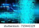 binary circuit future... | Shutterstock . vector #715441129