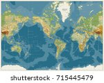 world map americas centered... | Shutterstock .eps vector #715445479