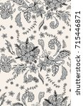 paisley.seamless vector pattern.... | Shutterstock .eps vector #715446871