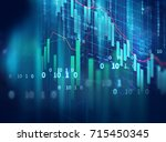 financial graph on technology... | Shutterstock . vector #715450345