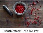 Berries In Mortar For Making...