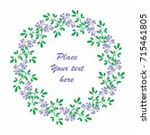 christmas round frame with the... | Shutterstock .eps vector #715461805