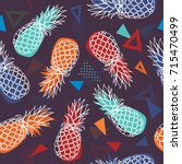 vector seamless pattern with... | Shutterstock .eps vector #715470499