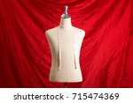 mannequin with hanging... | Shutterstock . vector #715474369