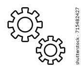 configuration  gears icon | Shutterstock .eps vector #715482427