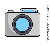 photographic camera icon  | Shutterstock .eps vector #715484341