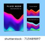 big set of vector posters with... | Shutterstock .eps vector #715489897