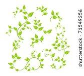 Set Of Various Green Plants ...